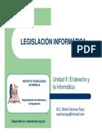 02 Legislacion Informatica - El derecho y la Informatica