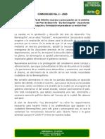 Comunicado No. 2 - Pav Atlántico 2020
