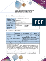 Guide of Activities and Rubric of Assessment - Fourth Activity – POA Assessment To report and evaluate Research