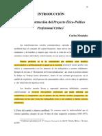 15. Montaño. Hacia la construcción del proyecto ético -político profesional crítico.pdf