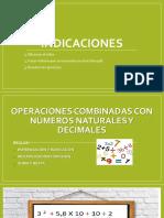 OPERACIONES COMBINADAS CON NúMEROS NATURALES Y DECIMALES 05052020