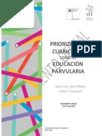 Educ Parvularia Priorización Curricular 2020-2021