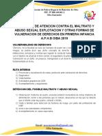 PROTOCOLO DE VULNERACION DE DERECHOS