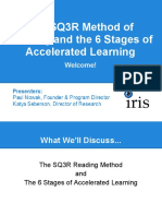 13 The SQ3R Method of Reading and the 6 Stages of Accelerated Learning