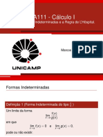 Aula14 - Formas Indeterminadas e LHôspital