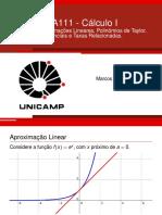 Aula12 - Aproximações Lineares _ Taylor _ Diferenciais e Taxas Relacionadas