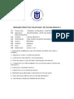 SEGUNDA PRACTICA CALIFICADA  DE COCINA BASICA II__ JUNIN
