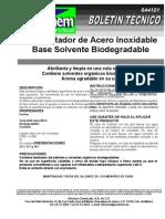 Abrillantador de Acero Inox Base Solvente Biodegradable