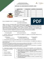 EXAMEN DE OLIMPIADA DE CONOCIMIENTO INFANTIL 2020