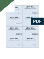 JESUS BULA-tarjeta de presentacion