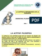 1. LA ACTITUD FILOSÓFICA