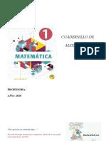 matematica 1 año revisar