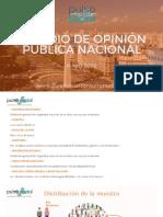 Estudio de opinión pública nacional Mayo de 2020