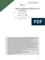 RECS REVISTA DE EDUCACIÓN EN CIENCIAS DE LA SALUD