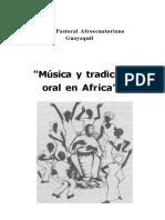 Musica y Tradicion Oral en Africa
