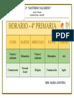 HORARIO - PRIMARIA