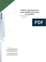 JUSTICIA TRANSICIONAL COMO MARCO JURIDICO PARA LA PAZ EN COLOMBIA