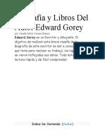 BIOGRAFIA DE EDWARD GOREY