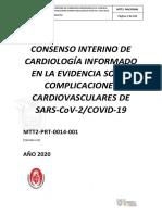 CONSENSO DE CARDIOLOGÍA SOBRE MANEJO DE COMPLICACIONES CARDIOVASCUARES  ASOCIADAS A  SARS COv2COVID19 versión 1.pdf