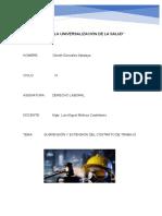 DERECHO LABORAL-suspencion del contrato de trabajo