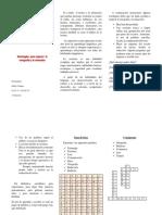 Estrategias  para mejorar  la ortografía y la redacción. triptico