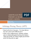 Arbitrage Pricing Theory & Sharpe Index Model