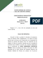CSJ SL 40517-14 Causales de suspensión de la pensión especial reconocida a padres de hijo en condición de discapacidad