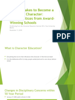 What it Takes to Become a School of Character
