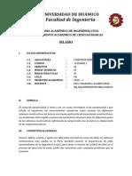 1. Silabus de Construccion II - Analitico