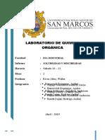 PRIMER INFORME LABORATORIO DE ORGANICA