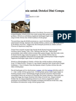 Metode Kimia untuk Deteksi Dini Gempa