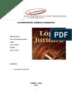Trabajo Proposicion Juridica Normativa
