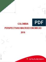 Colombia Perspectivas Macroeconómicas 2016 ARTICULO DE DAVIVIENDA