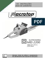 Manual eletroserra macrotop