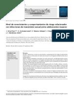 Artículo-Nivel de conocimientos y comportamientos de riesgo relacionados