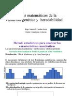 Análisis matemáticos de la variación genética y  heredabilidad