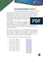 NORMA GASTRONÓMICA  (G-N)
