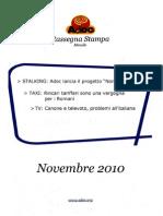 ADOC Rassegna stampa Novembre 2010