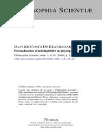 Formalisation et intelligibillité en physique