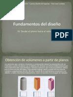 morfologia y diseño iv-desde el plano hacia el volumen