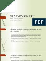 Organizarea UPU