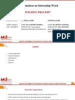 (1MJ16ME027) INTERNSHIP PPT