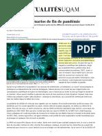 Bourdon, M.-C. (2020). COVID-19 - Scénarios de fin de pandémie
