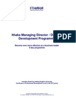 MDDP Programme 6 Day Outline - Ithaka