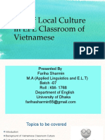 Use of Local Culture in EFL Classroom