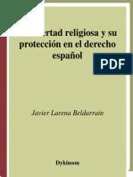 BELDARRAIN, Javier Larena. La libertad religiosa y su protección en el derecho español..pdf