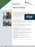 Mortar testing