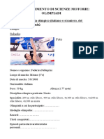 Scheda ricerca-Approfond. Scienze Motorie Olimpiadi