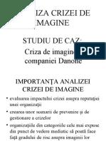 Analiza Crizei de Imagine Danone