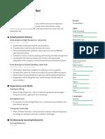 Resume.io Example - Combined Resume